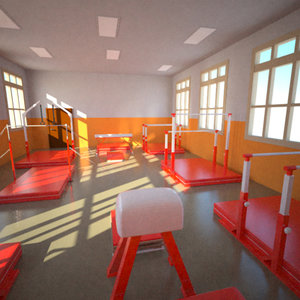 3d athletics gym interior model