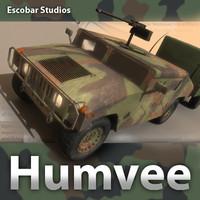 m1025 hmmwv humvee 3ds