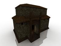 low polygon fantasy house