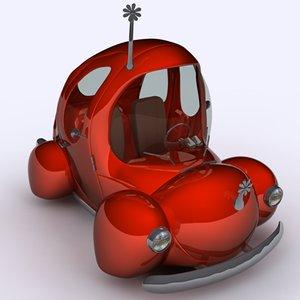 3d model toon car bug