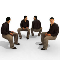 3d Model - Business Male #15a