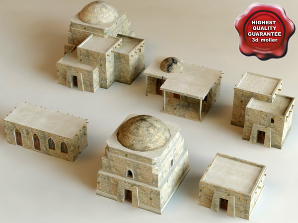 3d model of arab houses vol1