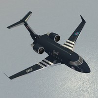 canadair cc-144b challenger jet 3d model