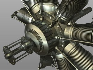 3d gnome rotary engine