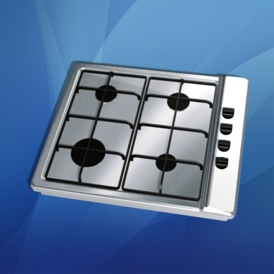 3d gas stovetop model