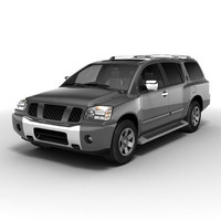 3d model nissan pathfinder armada