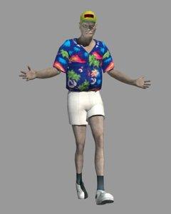 3d model male tourist