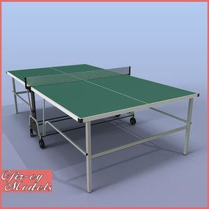 ping-pong table rackets 3d model
