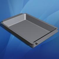 rectangular baking pan bakeware 3d model
