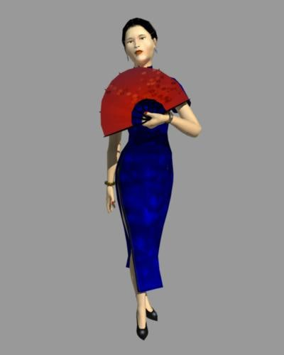 3ds max traditional asian female