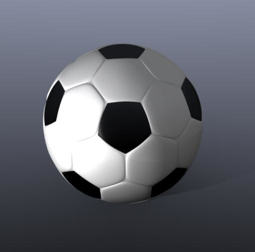 3d 3ds soccer ball