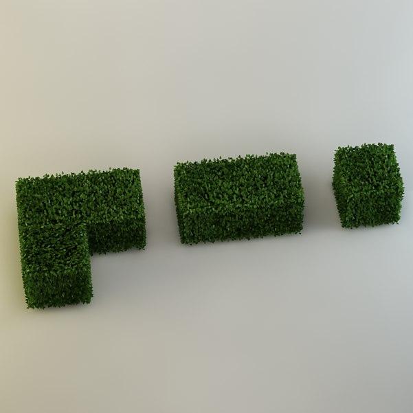 bushes leaf 3d model