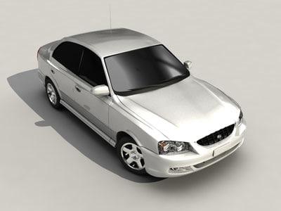 3d hyundai accent model