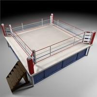 boxing arena 3d c4d