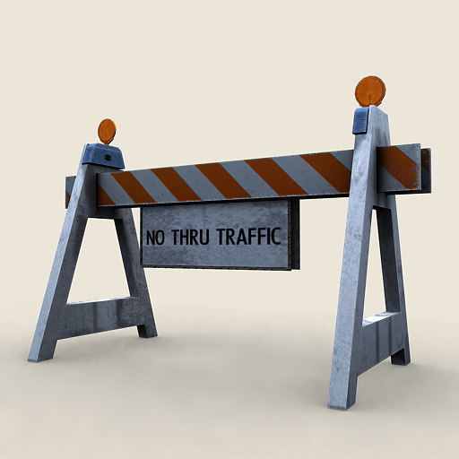 traffic barricade 3d model