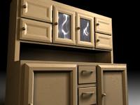3d cabinet wood model