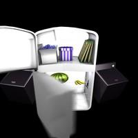 3d model animation fridge