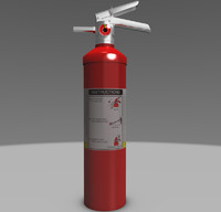 3d medium sized extinguisher