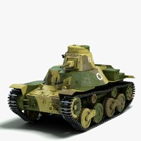 3d model japanese light tank ha