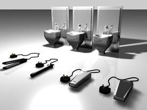 hair dressing equipment 3d model