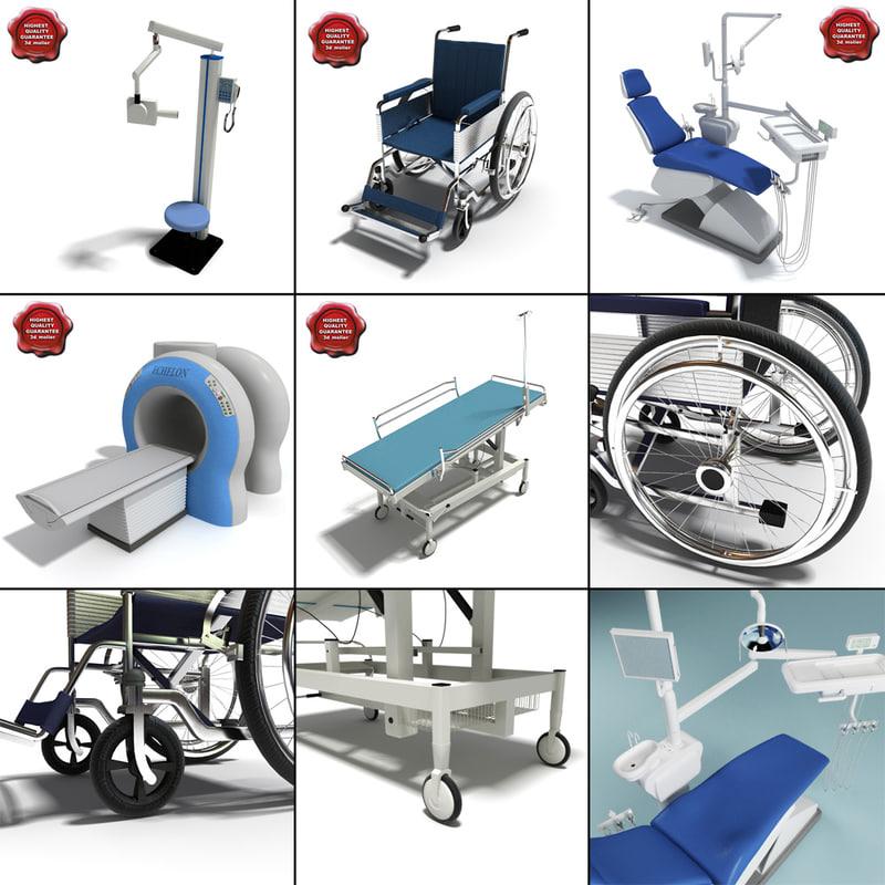 3d model hospital medical wheelchair
