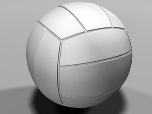3d model photo realistic volleyball
