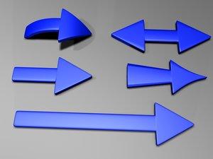 arrows pointers 3d obj