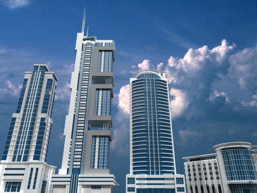 3dsmax building skyscraper city