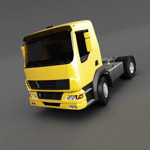 3d model semi trailer small