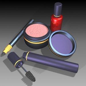 makeup cosmetics 3d model