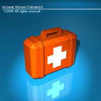3d c4d medical suitcase