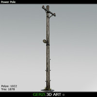 3d power pole model