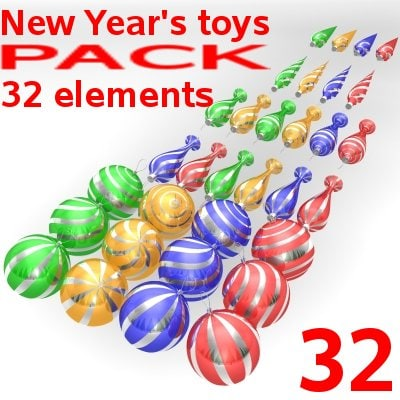new year toys 3d ma