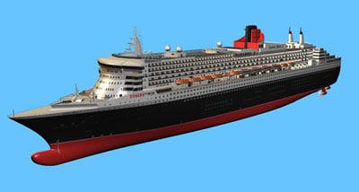 3d queen mary 2 model