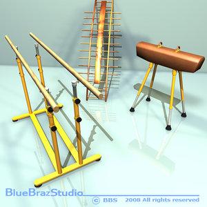 3d model gymnastic set