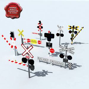 3d railroad crossings model