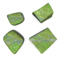 3d stones moss