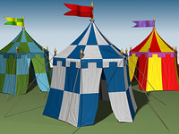3d model medieval tent