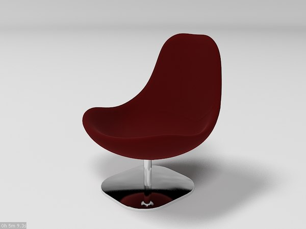 3d ikea swivel chair model