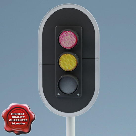 3d model traffic lights v2