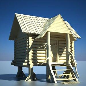 3d model cottage