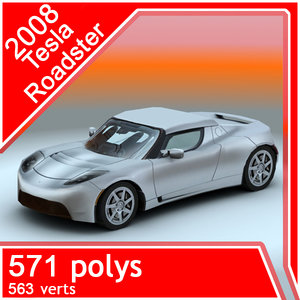 2008 tesla roadster 3d model