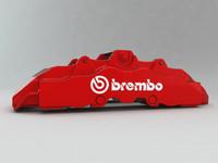 3d brembo brake caliper