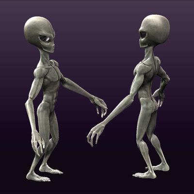 obj grey alien