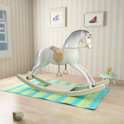3d rocking horse scene