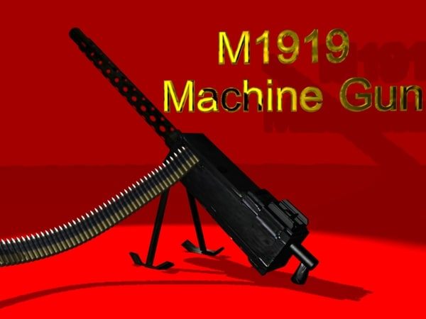 3d 30 machine gun model