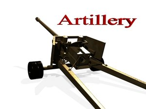 old artillery 3d model