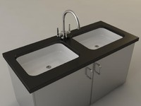 commercial sink 3d model