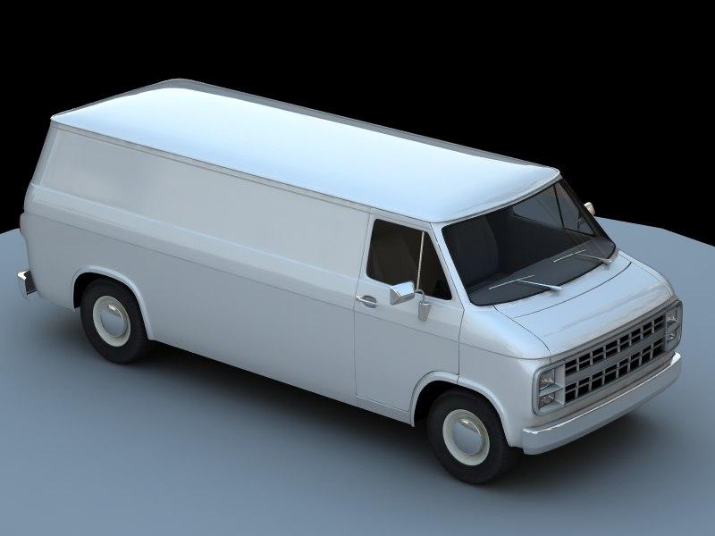 3d max gmc chevy delivery cargo van