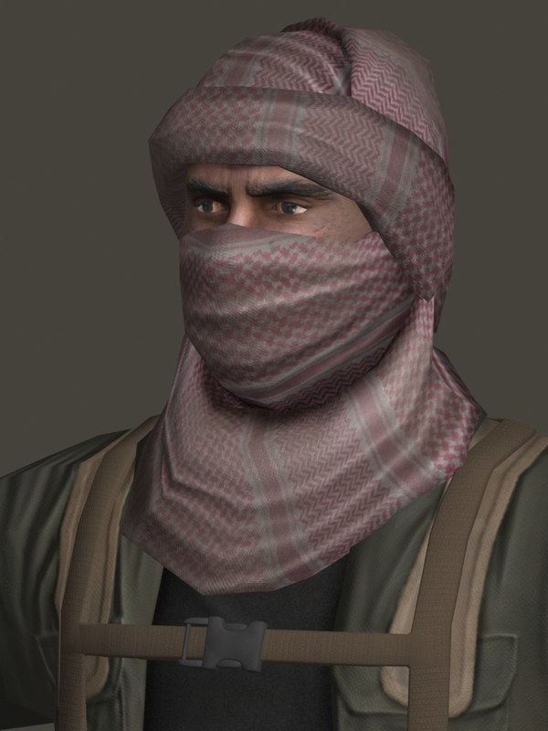 insurgent military character 3d model